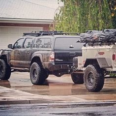 Some trucks just have it and the Tacoma is one of them. Love it! The tundra would be an awesome offroad or overlanding vehicle too! Who agrees? Toyota Tacoma 4x4, Tacoma Truck, Toyota Hilux, Toyota Tundra, Jeep Truck, Truck Camper, Expedition Trailer, Expedition Vehicle, Toyota Trucks