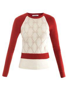 J W Anderson  Pointelle patchwork raglan sweater