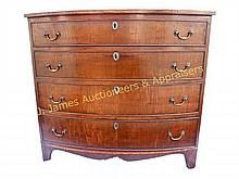 Period  Federal D Form Chest of Drawers, Circa 1810 WWW.JJAMESAUCTIONS.COM