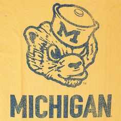 "University of Michigan Wolverines logo from 1922-1960. Described by one alumni as, ""Overbite Wolverine."""