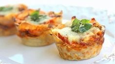 These Lasagna Cupcakes are easily made using all of the same ingredients in your classic lasagna with layers of meat, three types of cheeses, and pasta.:
