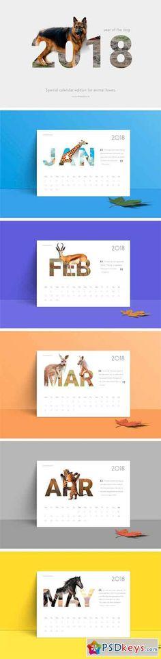 2018 Calendar Animals 2009222