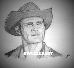 THE RIFLEMAN REALISM GRAPHITE PENCIL DRAWING  CHUCK CONNORS LUCAS McCAIN RANCHER #Realism