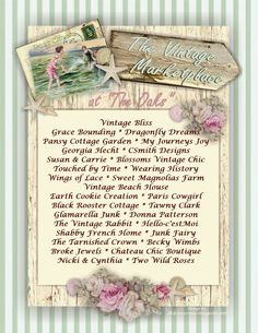 "We are pleased to announce that our June 1st & 2nd 2012 show for ""The Vintage Marketplace"" Seaside Summer theme is full and we are closing Registration!   Welcome Vendors"