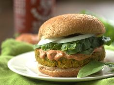 Indian Curry Veggie & Chickpea Burgers