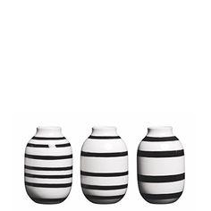 awesome Kahler Omaggio Mini Ceramic Vase 3-Pack - Handmade Faience