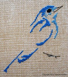 Discover thousands of images about Tracy Franklin'e embroidery.Design was taken from Les oiseaus de Marie-Thérèse Saint-Aubin. Cross Stitch Tattoo, Cross Stitch Bird, Cross Stitch Animals, Cross Stitch Designs, Cross Stitching, Cross Stitch Embroidery, Hand Embroidery, Cross Stitch Patterns, Tatoo Brothers