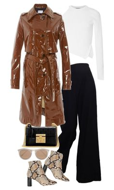 """""""Untitled #3383"""" by angieswardrobe ❤ liked on Polyvore featuring Cushnie Et Ochs, The Row, Carven, Barneys New York, Gucci and Le Specs"""
