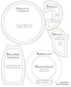 Пост для тех, кто интересовался. Это выкройка моего чайника. Да, та самая обычная ВЫКРОЙКА  обычного текстильного ЧАЙНИКА , распечатайте, п...