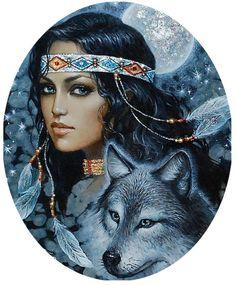 Схема вышивки «Бегущая с волками» - Схемы вышивки - Lackyblond - Авторы - Портал «Вышивка крестом»