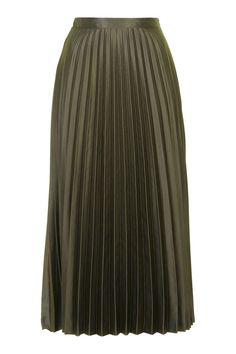 TALL Satin Pleated Midi Skirt - Tall - Clothing - Topshop