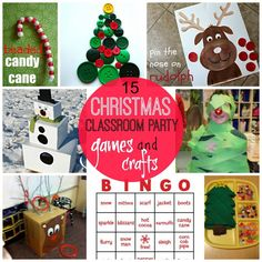 15 christmas classroom party games and crafts