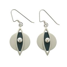 Mar Circle Marquise Pearl Earrings