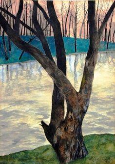 Opdracht 5 : winterlandschap van Belgisch kunstenaar Léon Spilliaert - 1930.