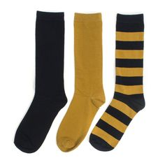 Navy + Gold 3-Pack Crew Socks #NFL #MLB #Brewers #Milwaukee #Saints
