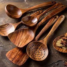 Cooking Utensils Set, Kitchen Utensil Set, Cooking Spoon, Kitchen Sets, Cooking Spatula, Kitchen Ware, Cooking Tools, Kitchen Cabinets, Madeira Natural
