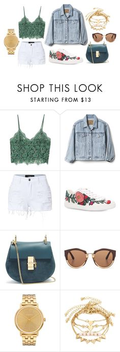 """""""ideas"""" by hannahleighhh on Polyvore featuring MANGO, Gap, LE3NO, Gucci, Chloé, Marni and Nixon"""
