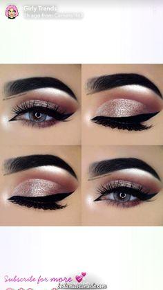 Pink eye make up Day Eye Makeup, Show Makeup, Bridal Eye Makeup, Glitter Eye Makeup, Fall Makeup, Smokey Eye Makeup, Eyeshadow Makeup, Beauty Makeup, Flawless Makeup