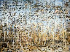 Imants Tillers The Beech Forest, acrylic, gouache on 90 canvasboards, no. 85589 - 254 x 343 cm Australian Painters, Australian Artists, Popular Artists, Famous Artists, Abstract Landscape, Landscape Paintings, Natural Form Artists, A Level Art, Museum Of Contemporary Art