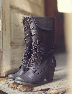 Laced Boots    gt  I Want these ~ Black Boots With Heels 4a7a30bfb66c