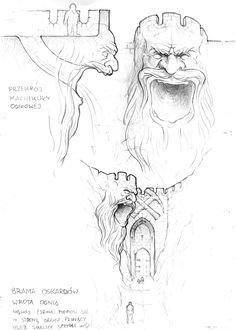 Teaser-Kampagne our vision of the dwarven village, just a teaser, wait for Dungeons And Dragons, Fantasy Places, Sketches, Dwarven City, Dungeons And Dragons Homebrew, Fantasy Art, Fantasy Rpg, Medieval Fantasy, Fantasy Map Making