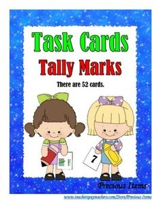 Students will complete the task cards on counting the amount of tally marks on each task card.  This helps students with counting by five's.  The task cards can be used as a review.  Place the task cards in your math stations so students can work independently.