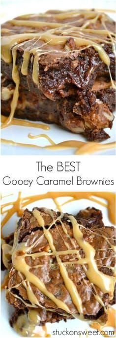 Caramel Brownies - this is my favorite brownie recipe ever! | www.stuckonsweet.com #brownies #brownie #dessert #chocolate