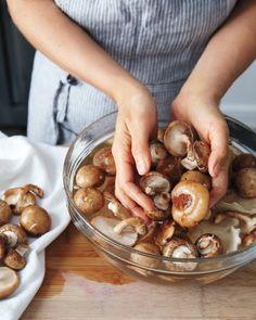 Cleaning Mushrooms