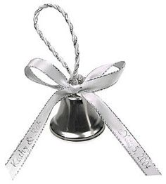 Silver Rope Wedding Favor Bell by HansonEllis on Etsy