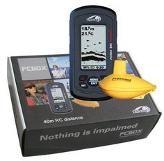 3.0 inch FSTN LCD Portable Sonar Wireless Fish Finder With Two Freecast Sensors With Backlight 115KHZ 130ft Wireless Range