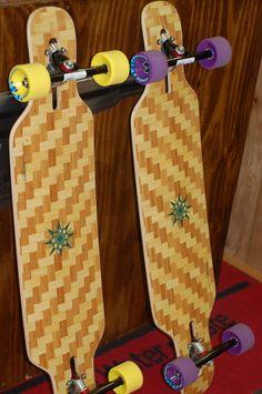 loaded tan tien bamboo longboards.