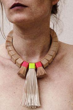 mona velciov monotip/leather jewelry/cogwheel