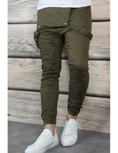 Jeans salopette kaki Jeans Homme Fashion, Overalls Fashion, Mens Fashion Suits, Denim Fashion, Look Fashion, Sneakers Fashion, Swag Outfits Men, Boy Outfits, Robe Pinafore
