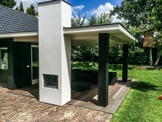 Pergola With Retractable Canopy Kit Garden Room, Outdoor Decor, Alfresco Area, Garden Design, Outside Living, Outdoor Rooms, Outdoor Fireplace Designs