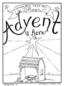 Printable Advent Coloring Pages for Kids