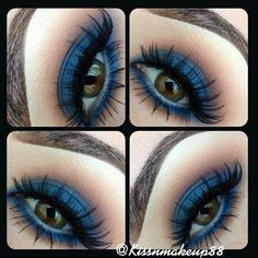 kissnmakeup88's feelin blue. #eye #shadow #eyeshaow #mua