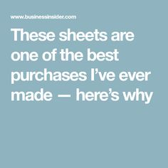 These sheets are one of the best purchases I've ever made — here's why #BedSheets