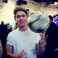 niall with a ball