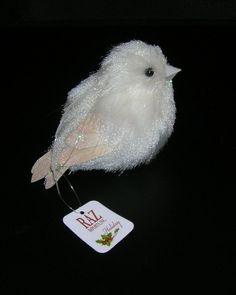"Raz Imports Christmas White 3.5"" Bird Ornament~ Arctic Wilderness~3252436"