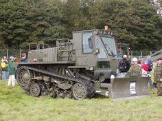 Military Vehicle Photos - Royal Engineers machine Leuchars.This a Caterpillar crawler