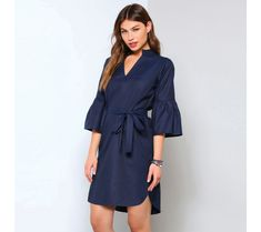 Asymetrické šaty s mao výstrihom | modino.sk #modino_sk #modino_style #style #fashion #slevy #akce Wrap Dress, Cold Shoulder Dress, Marriage, Dresses With Sleeves, Long Sleeve, Model, Base, Silhouette, Street