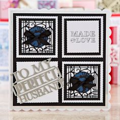 What a beautiful card! Made using the Patchwork Perfections… Male Birthday, Birthday Cards For Men, Men's Cards, Greeting Cards, Tonic Cards, Studio Cards, Craft Things, Embossed Cards, Embossing Folder