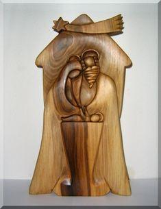 264.00 € Bethlehem wooden sculpture