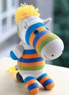Kawaii Handmade plush Zebra Stuffed Animal Doll by Toyapartment