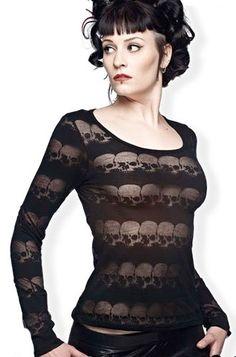 Queen of Darkness Skull Women's Top, £26.99    http://www.attitudeclothing.co.uk/product_31995-64-2494_Queen-of-Darkness-Skull-Women%27s-Top.htm