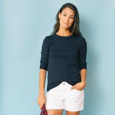 Navy Carolina Crewneck Sweater