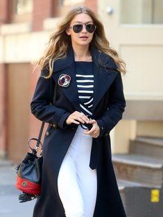 Gigi Hadid Aviator Sunglasses - Classic aviator sunglasses topped off Gigi Hadid's attire.