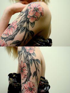 I like the contrast! Word Tattoos, Body Art Tattoos, I Tattoo, Color Tattoos, Tatoos, Pretty Tattoos, Beautiful Tattoos, Apocalypse Tattoo, Piercings