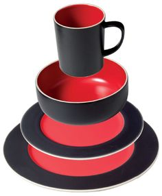1000 images about red black on pinterest dinnerware - Black and red dinnerware sets ...