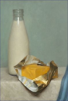 "Conor Walton, ""Milk and Butter"", Oil on Panel. 2004."